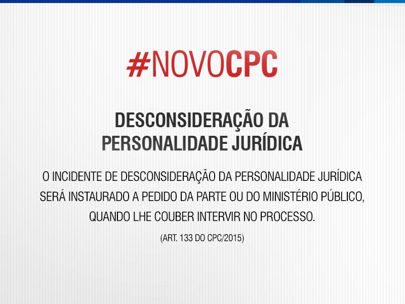Petição desconsideração da personalidade jurídica Novo CPC